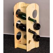 Stojan na víno, na 6 lahví, Natur lak