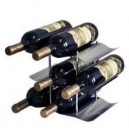 Stojan na víno z nerezu Stoper, na 9 vín